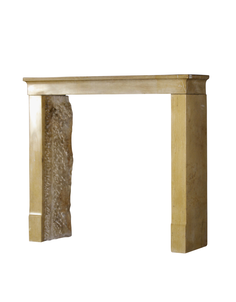 La Miel De Color De La Piedra Caliza Francesa Antigua Chimenea