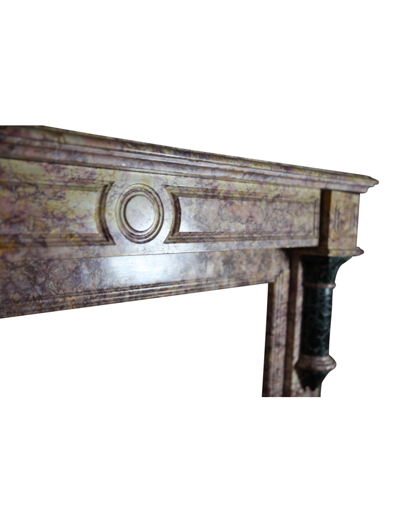 The Antique Fireplace Bank Brocatelle Marble Vintage Chimney Piece