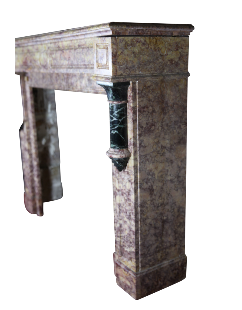 The Antique Fireplace Bank Brocatelle Marmor Jahrgang Kamin