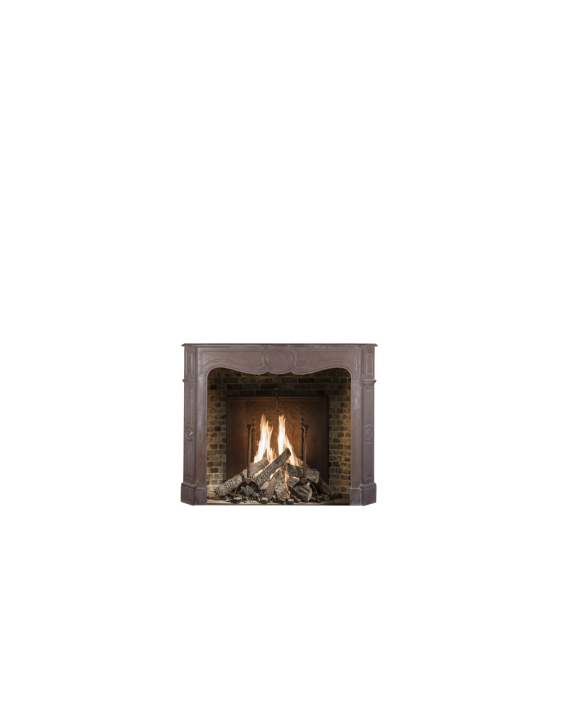 French Pompadour Style Vintage Fireplace Surround
