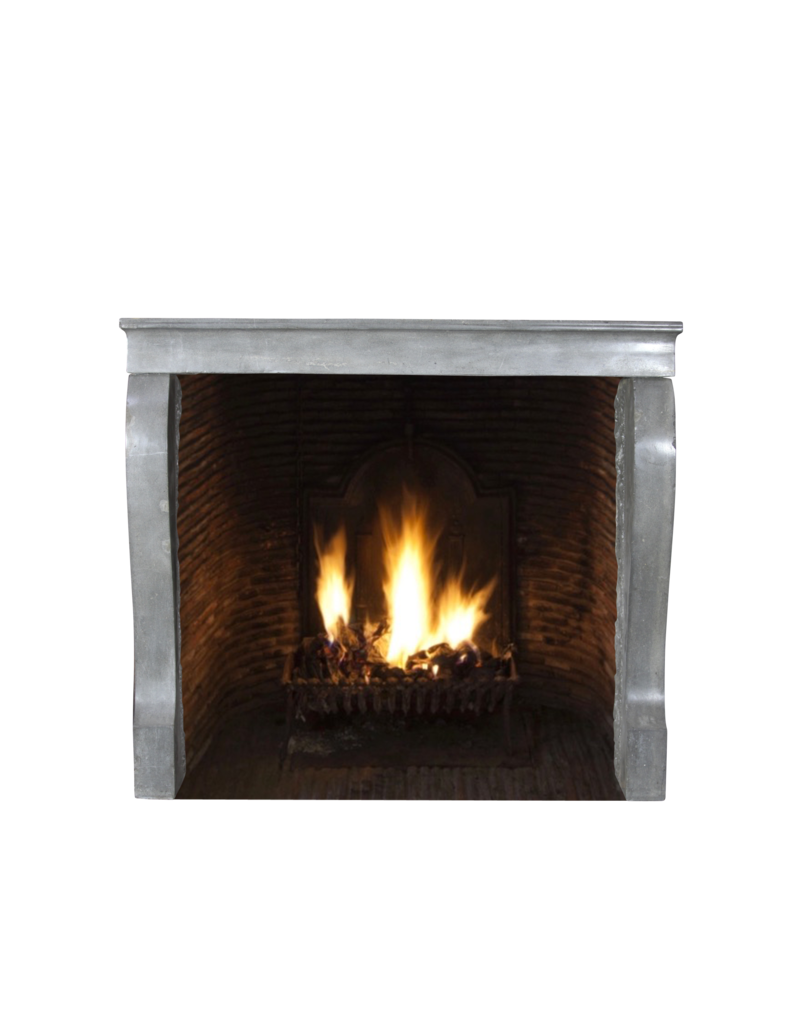 Small Fireplace Surround In Color Limestone