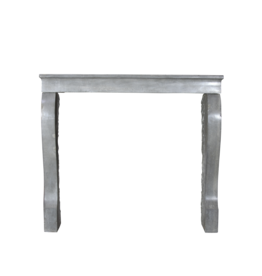 Elegant Bleu Grey French Fireplace Mantle