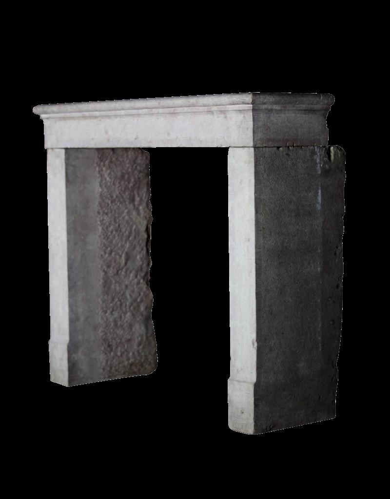 Small Country Limestone Fireplace Surround