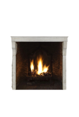 French High Rustic Fireplace Surround