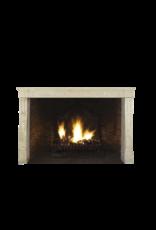 French Limestone Elegant Fireplace Surround