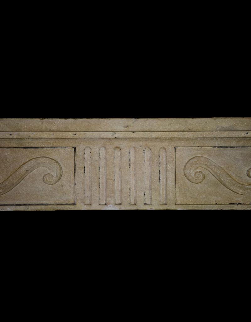 The Antique Fireplace Bank Francés Clásico De Piedra Caliza Surround