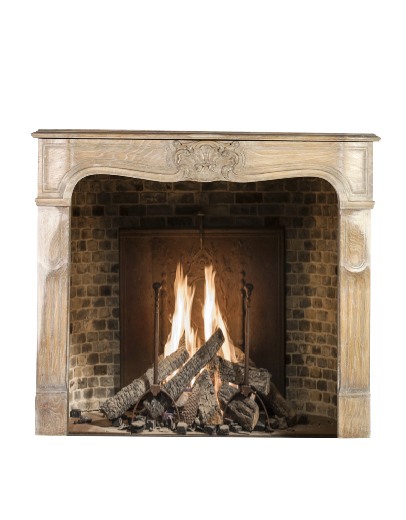 The Antique Fireplace Bank French 20Th Century Lxv Style Wood Surround