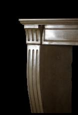Feines Französisch Klassiker Kamin In Zweifarbig Harte Kalkstein