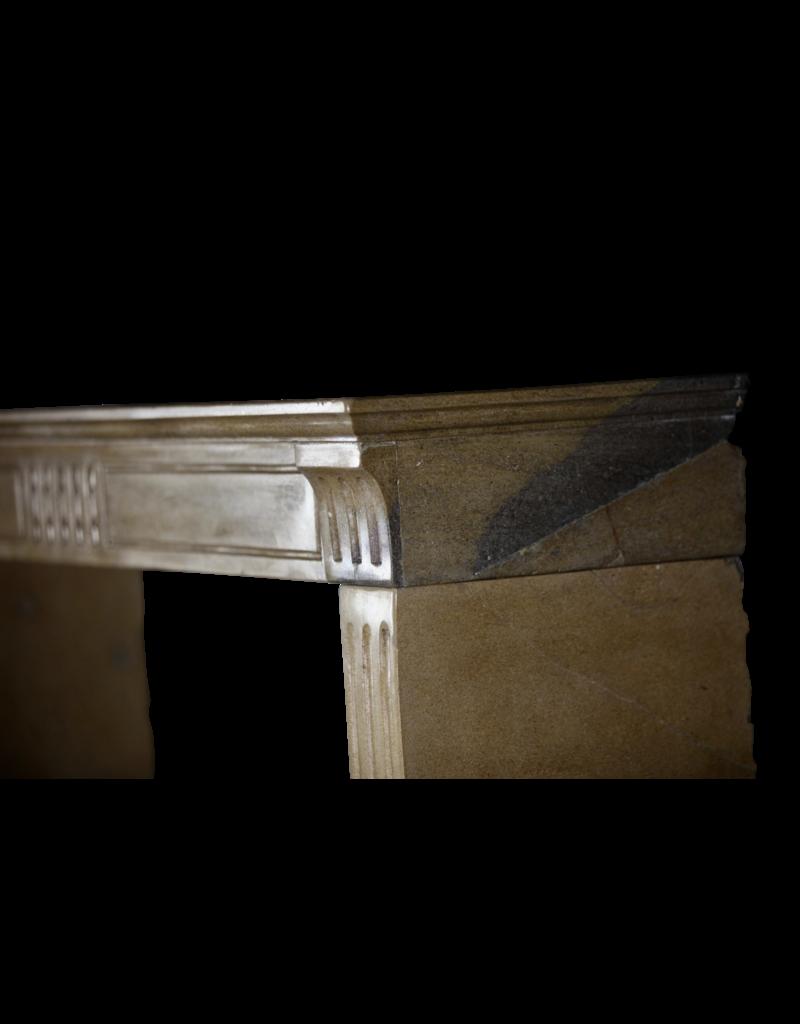 The Antique Fireplace Bank Feines Französisch Klassiker Kamin In Zweifarbig Harte Kalkstein