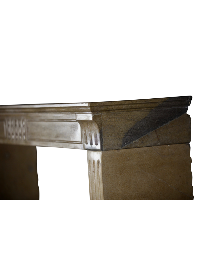 The Antique Fireplace Bank Fine French Classic Fireplace In Bicolour Hard Limestone