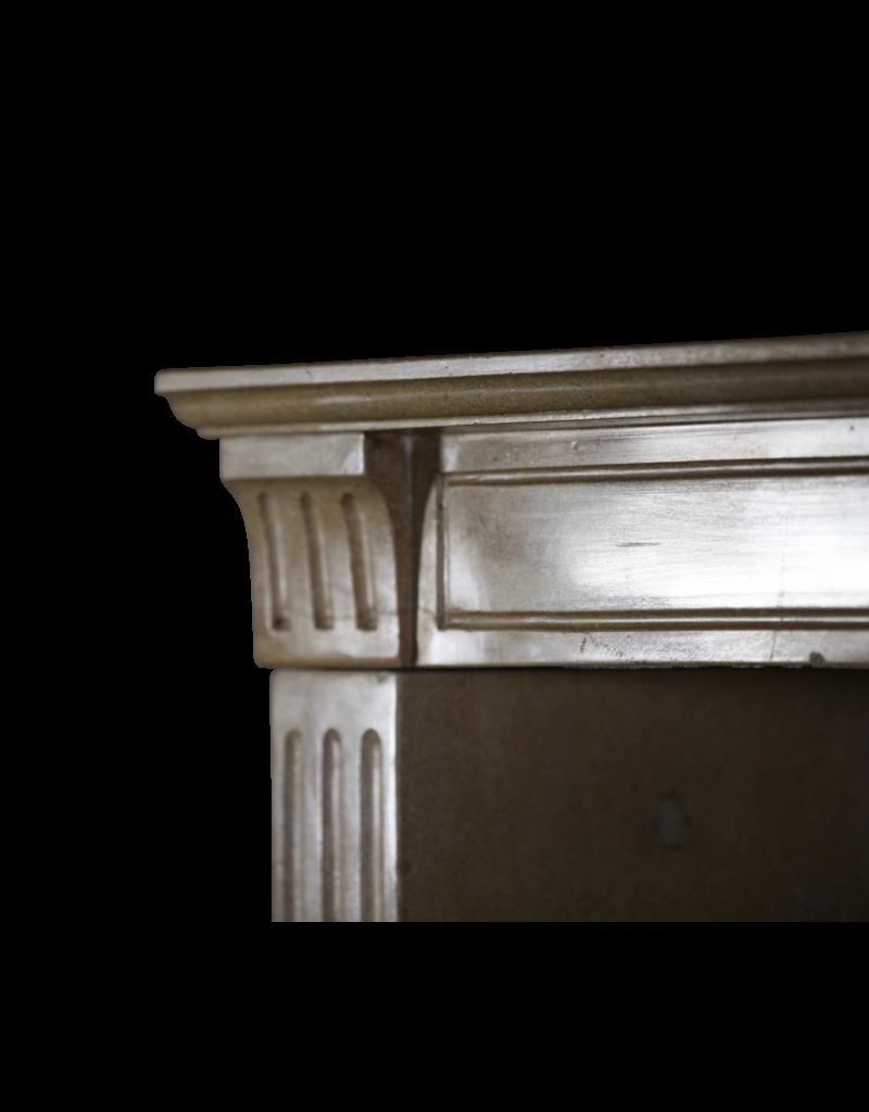 The Antique Fireplace Bank Fina Clásica Francesa Chimenea En Bicolor Duro De Piedra Caliza