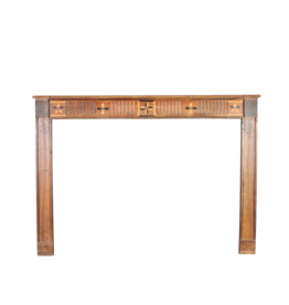 The Antique Fireplace Bank French Country Wooden Fireplace Mantle