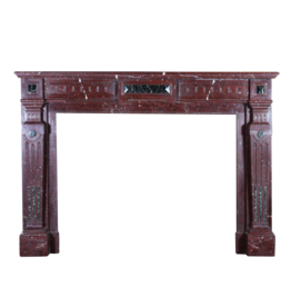 The Antique Fireplace Bank Late 19Th Century Belgian Fireplace Mantle In Red Marble