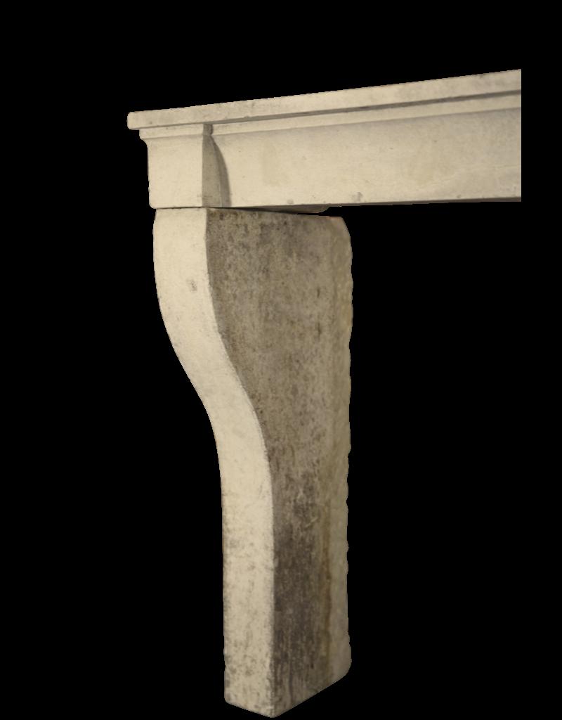 Französisch Kalkstein Eleganter Kaminmaske