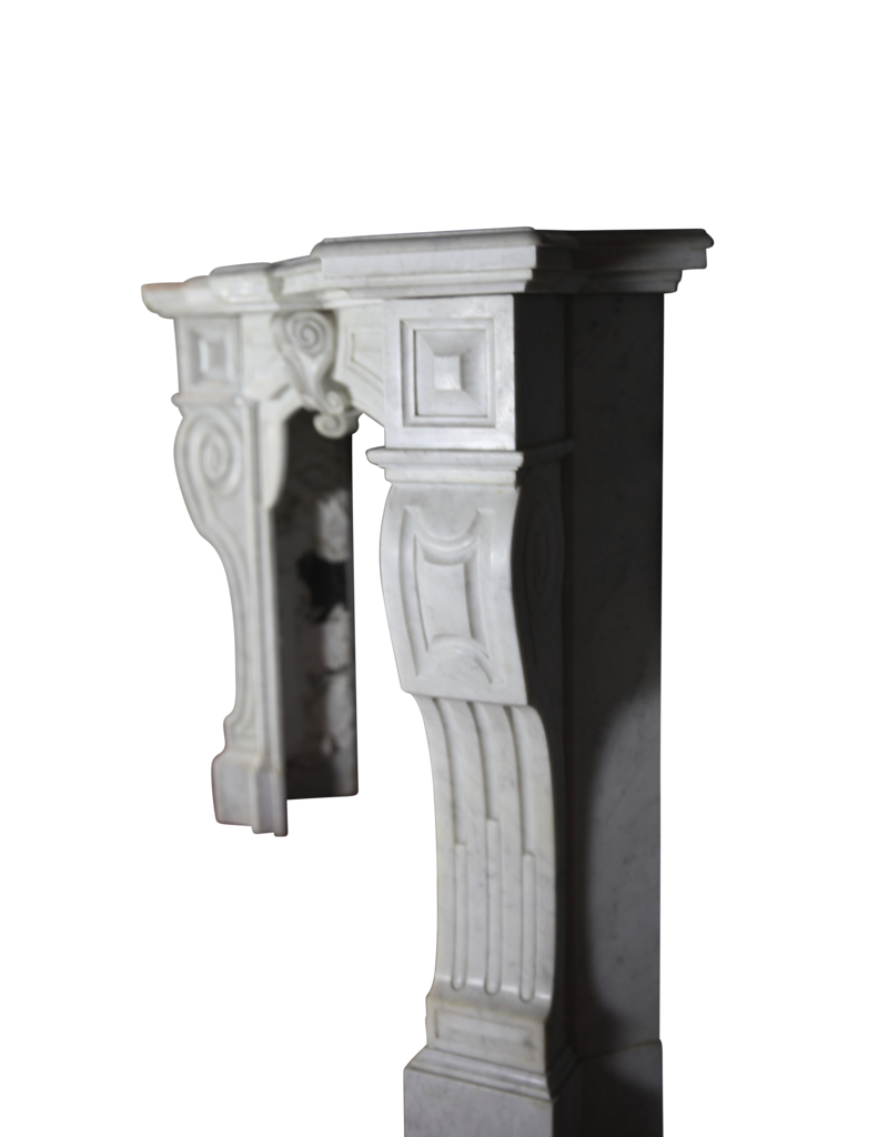 Belgian White Fireplace