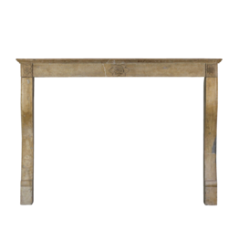 The Antique Fireplace Bank Art Deco Flower French Limestone