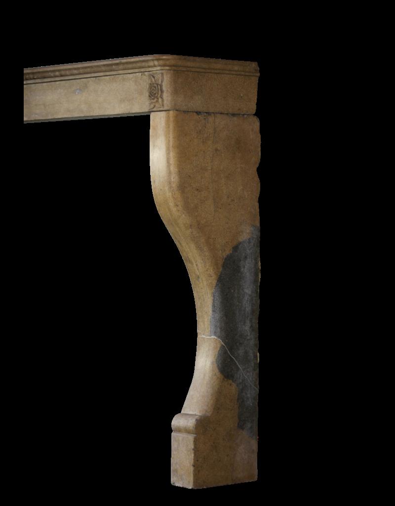 Detalle Art Deco Flor De Piedra Caliza Francesa