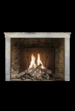 Maison Leon Van den Bogaert Antique Fireplaces & Vintage Architectural Elements Francés Bicolor Timeless Rústica De Piedra Caliza Chimenea Surround