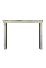 French Bicolor Timeless Rustic Limestone Fireplace Surround