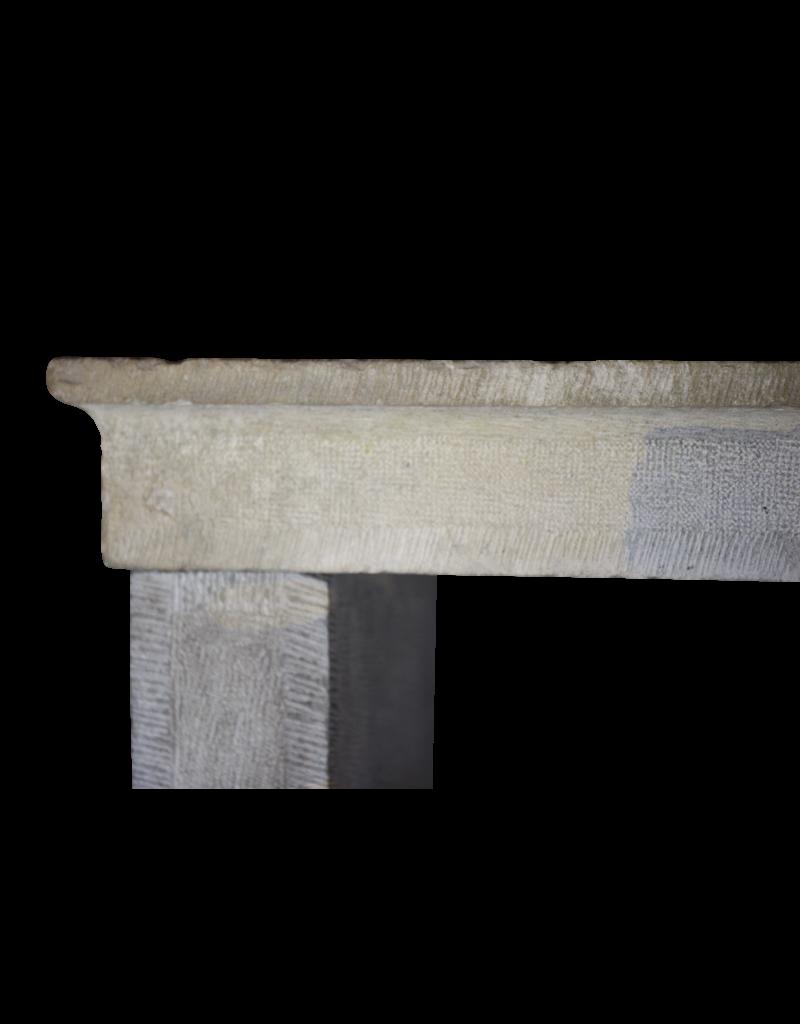 Francés Bicolor Timeless Rústica De Piedra Caliza Chimenea Surround