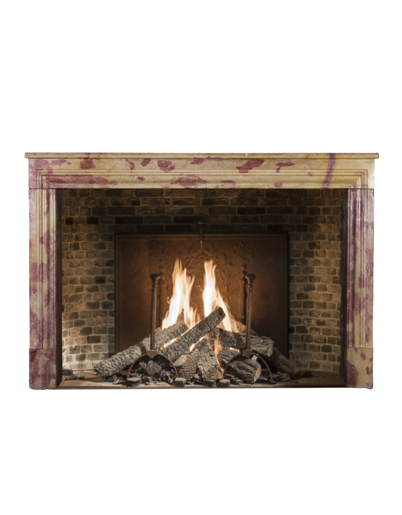 Multi Color French Vintage Fireplace Surround