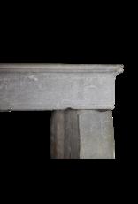Pequeño Gris Francés Antiguo Chimenea