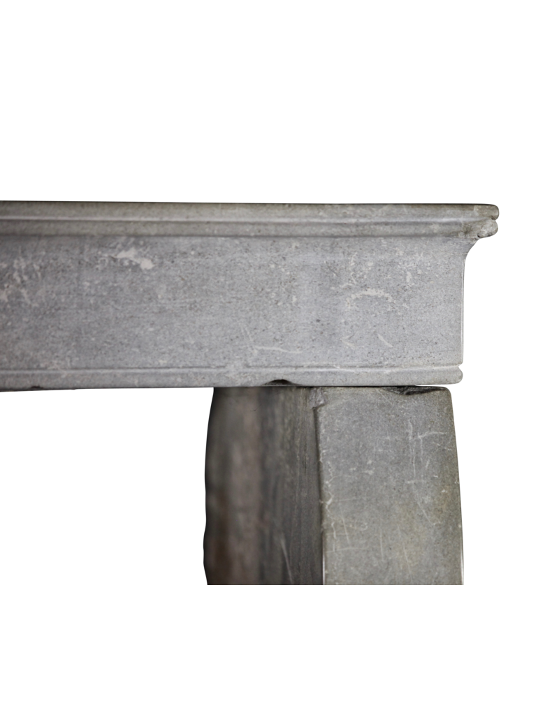 Small Grey French Antique Fireplace Surround