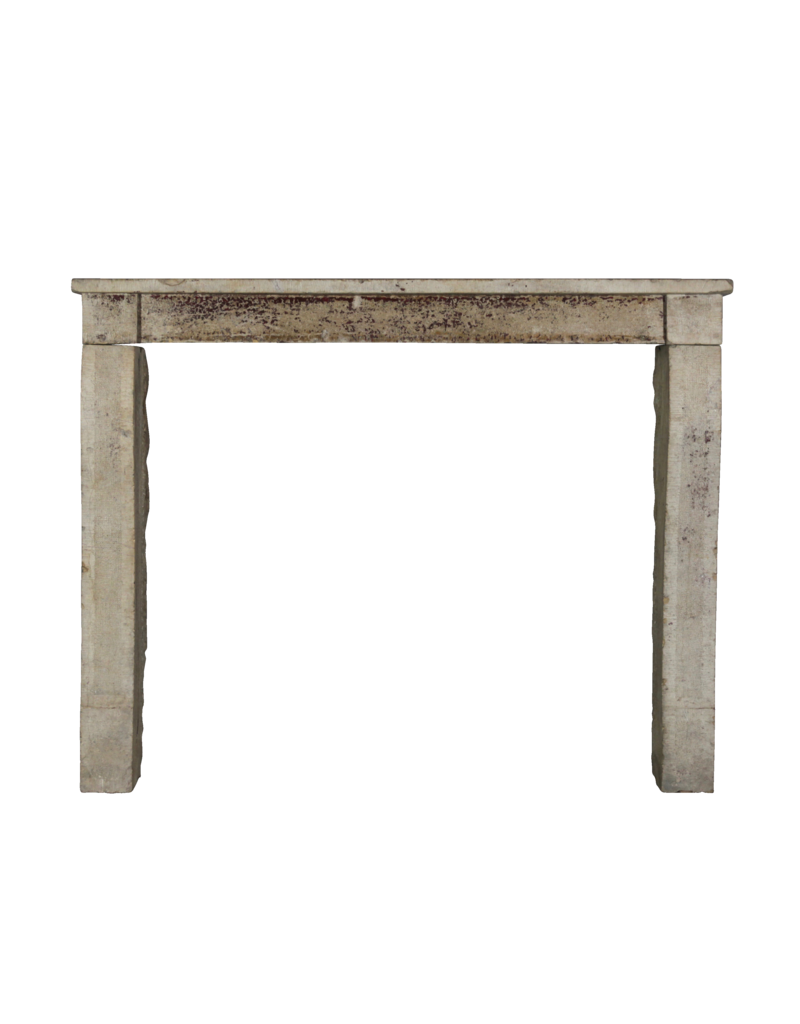 The Antique Fireplace Bank French Country Mantle In Limestone