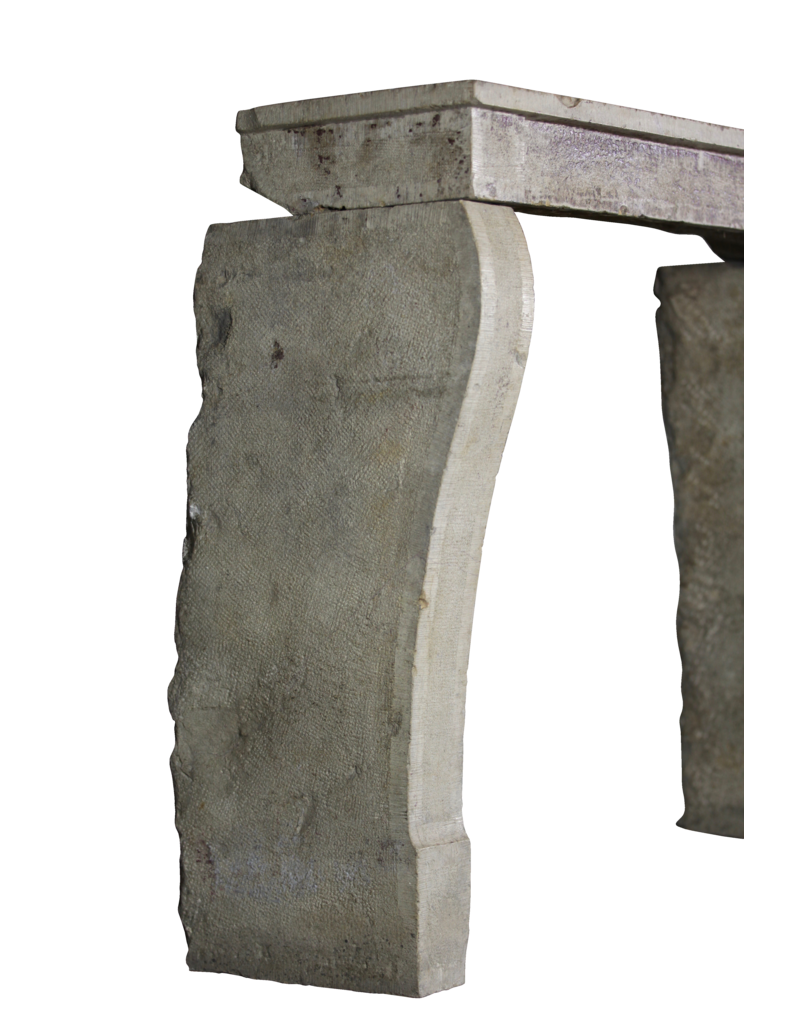 French Country Mantle In Limestone