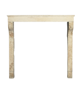 The Antique Fireplace Bank High French Rustic Limestone Mantle