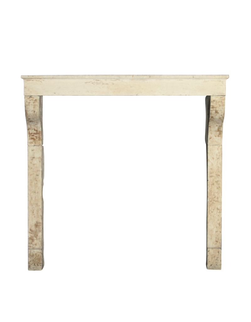 High French Country Mantle In Limestone
