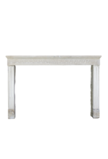 French Country Limestone Fireplace Mantle