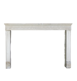 French Classic Limestone Fireplace Mantle