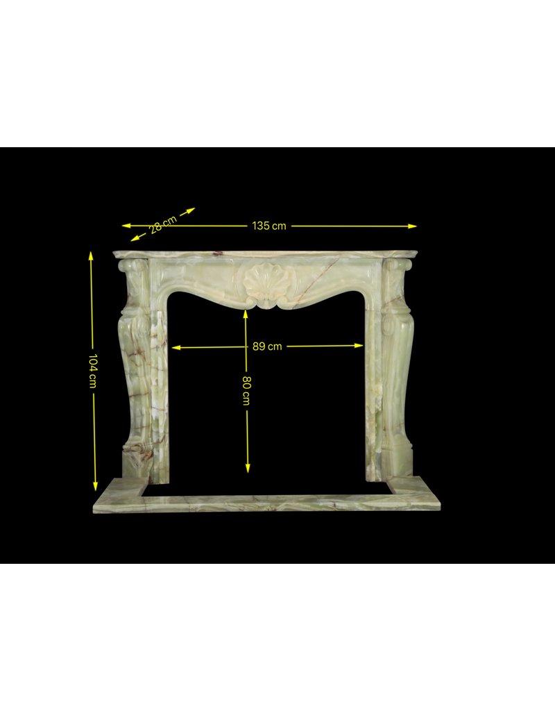 The Antique Fireplace Bank Grün Onyx Klassische Kamin Verkleidung