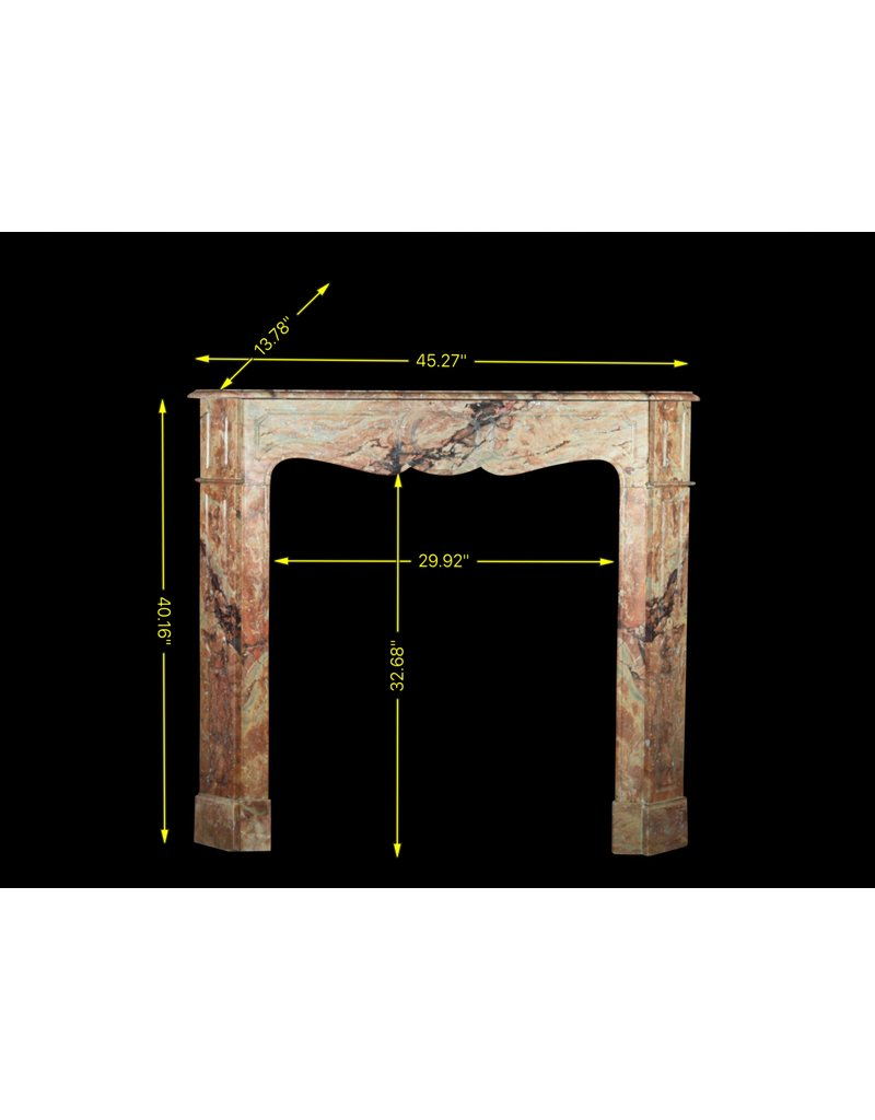 French Pompadour Style Fireplace Mantle