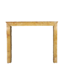 The Antique Fireplace Bank Original French Limestone Antique Fireplace Surround