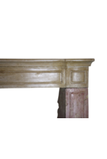The Antique Fireplace Bank Bicolor French Antique Stone Surround