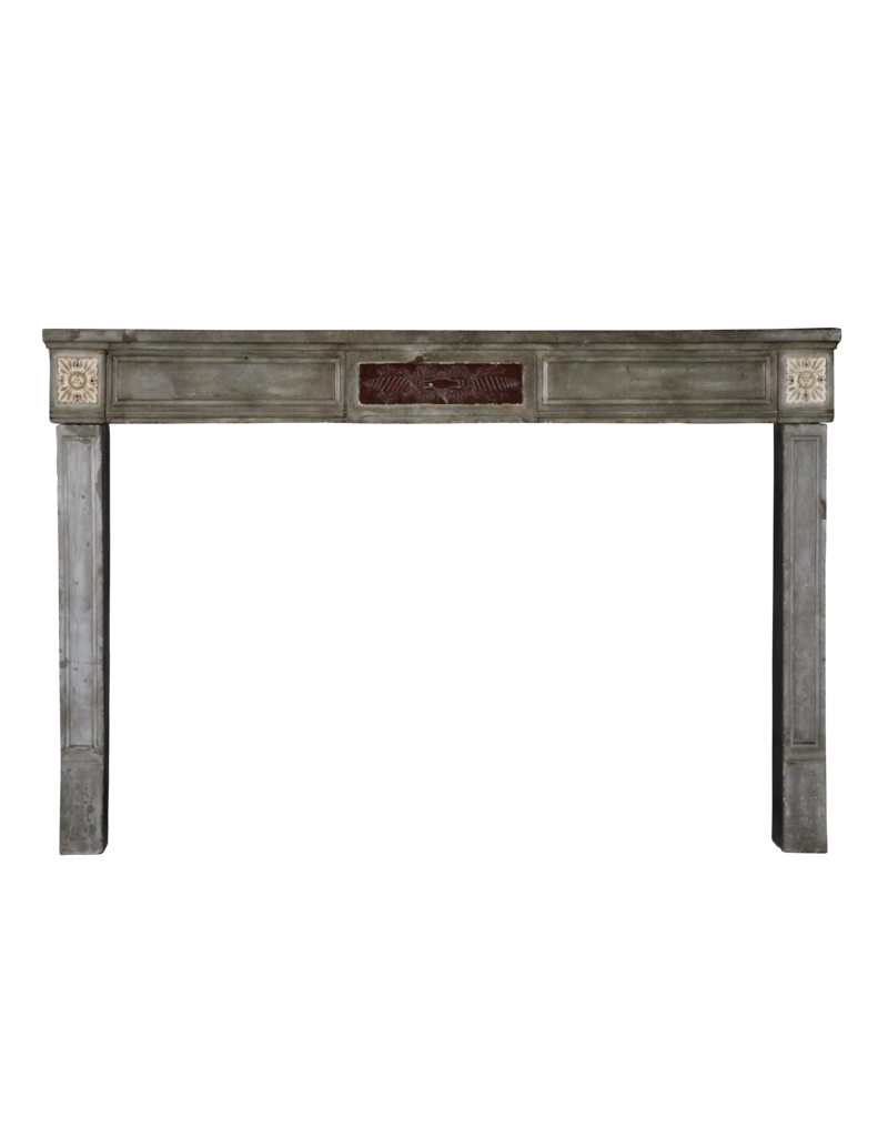 French Burgundy Antique Fireplace Mantle
