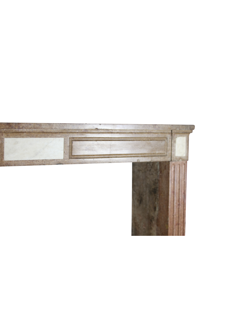 18Th Century Red Stone Vintage Fireplace Surround