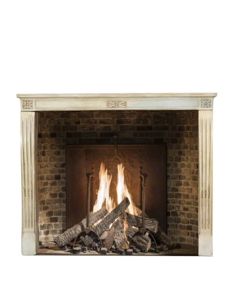 The Antique Fireplace Bank Elegante Francés Chimenea
