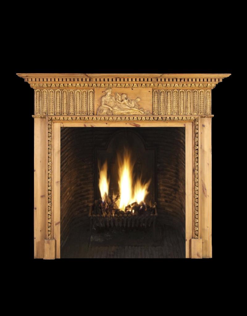 Pine English Fireplace Surround