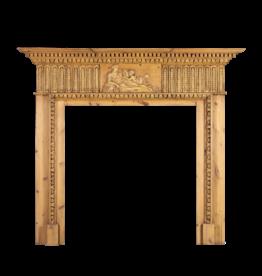 Pine English Fireplace Mantle
