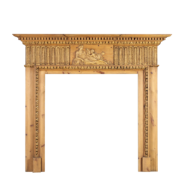 The Antique Fireplace Bank Pine English Fireplace Mantle