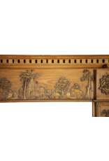The Antique Fireplace Bank Fine English Mantle In Pine