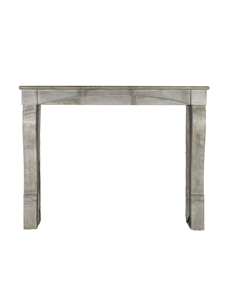 Blue French Stone Antique Fireplace Surround