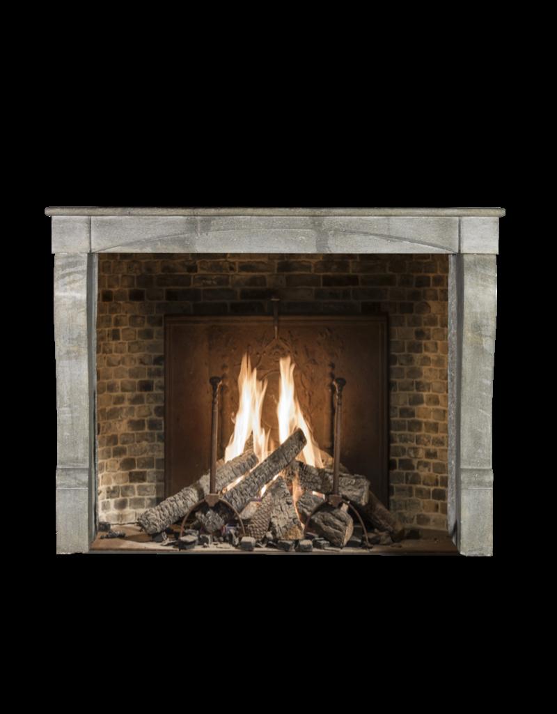 The Antique Fireplace Bank Französisch Blau Stein Antike Kamin
