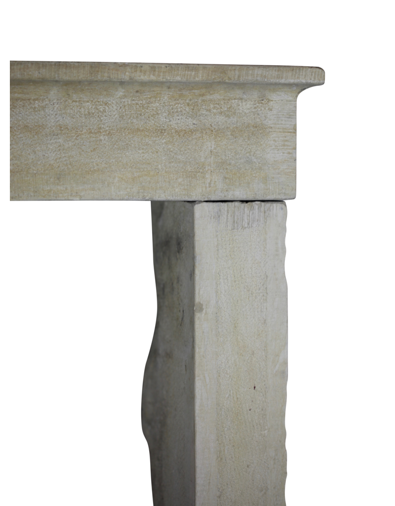 French Country Limestone Fireplace Surround