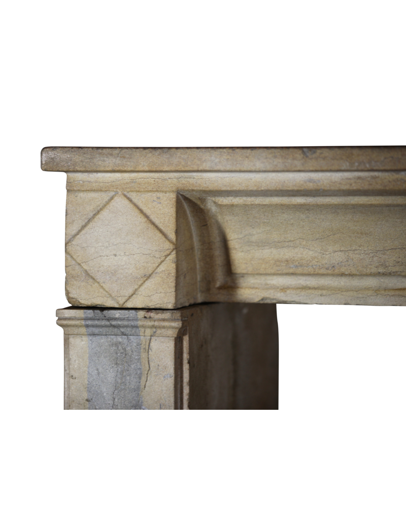 French Multicolour Vintage Fireplace Surround