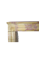 Antike Kalkstein Kamin im Französchem Landstil