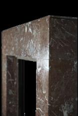 Art Deco Kleiner Kaminmaske In Braunem Marmor